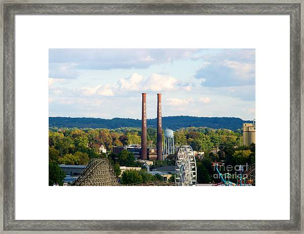 The Smoke Stacks Stand Resolute  Framed Print