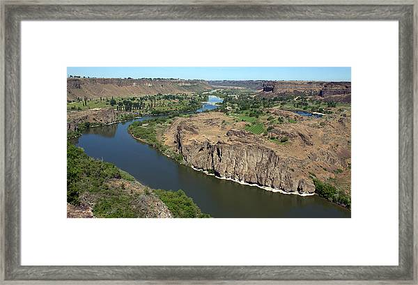 The Snake River Canyon Idaho Framed Print