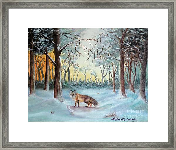 The Sneaky Red Fox Framed Print