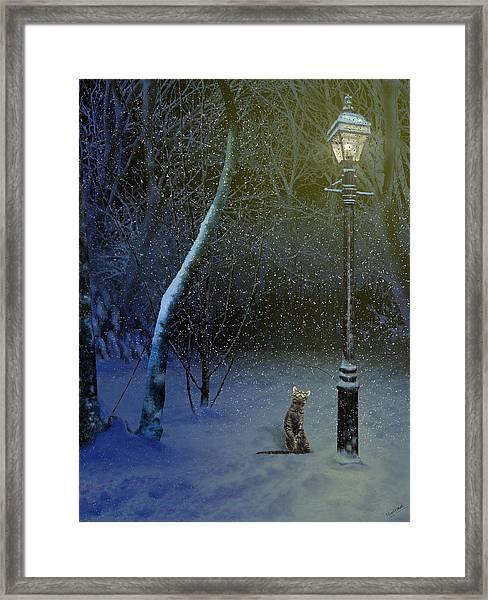 The Snow Cat Framed Print