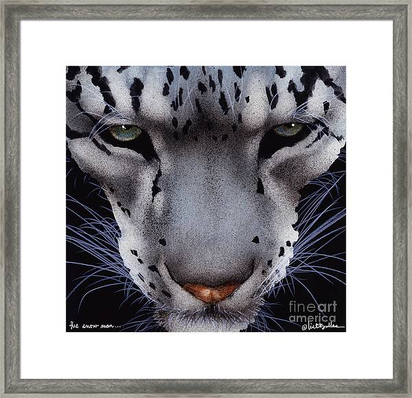 The Snow Man... Framed Print