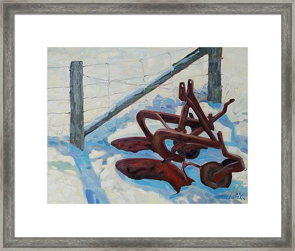 The Snow Plow Framed Print