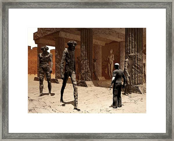 The Somnambulist In The Underworld Framed Print