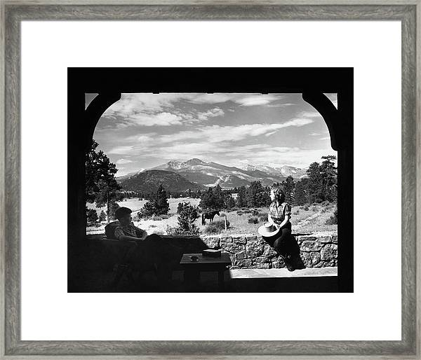 The Son And Daughter Of Mr. And Mrs. Roger L Framed Print