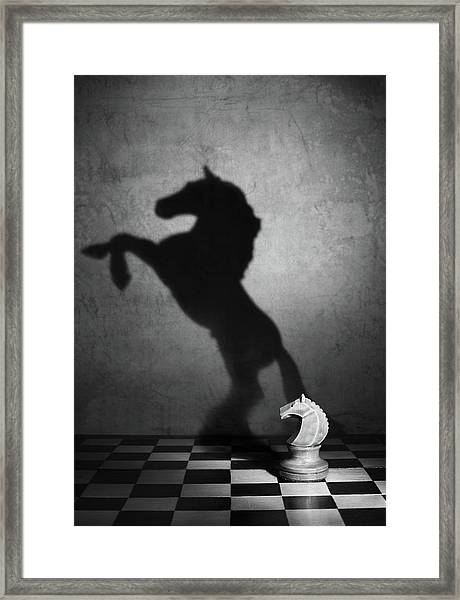 The Soul Of A Mustang Framed Print