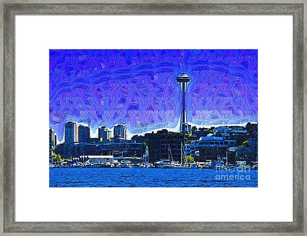 The Space Needle From Lake Union Framed Print