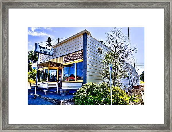 The Spot Shop Cleaners - Pullman Washington Framed Print