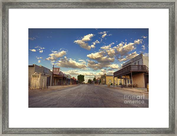 The Sreets Of Tombstone Framed Print