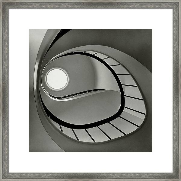 The Staircase In Mr. And Mrs. Albert Framed Print