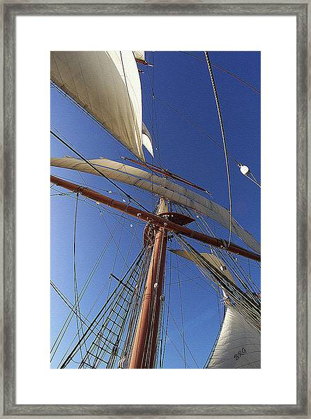The Star Of India. Mast And Sails Framed Print