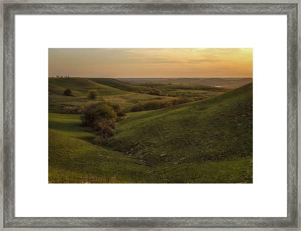 The Start Of The Evening Framed Print