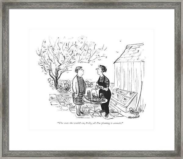 The State The World's Framed Print