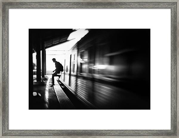 @the Station: Rush Arrival Framed Print