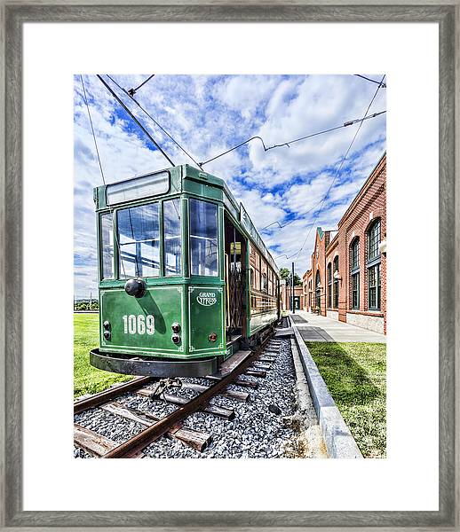 The Stib 1069 Streetcar At The National Capital Trolley Museum I Framed Print