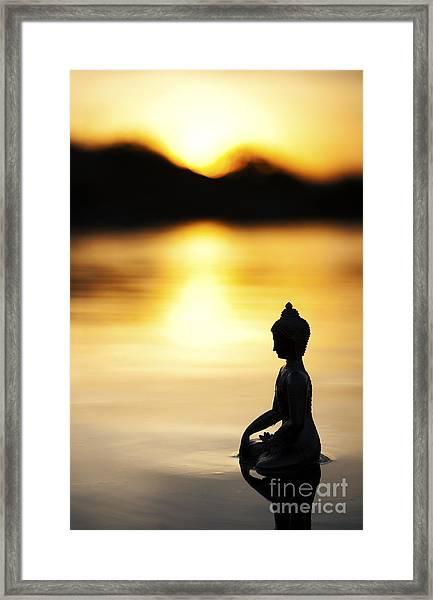 The Stillness Of Sunrise Framed Print