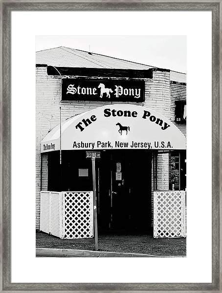 The Stone Pony Asbury Park Nj Framed Print