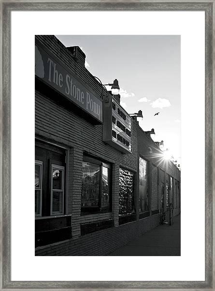 The Stone Pony Asbury Park Side View Framed Print