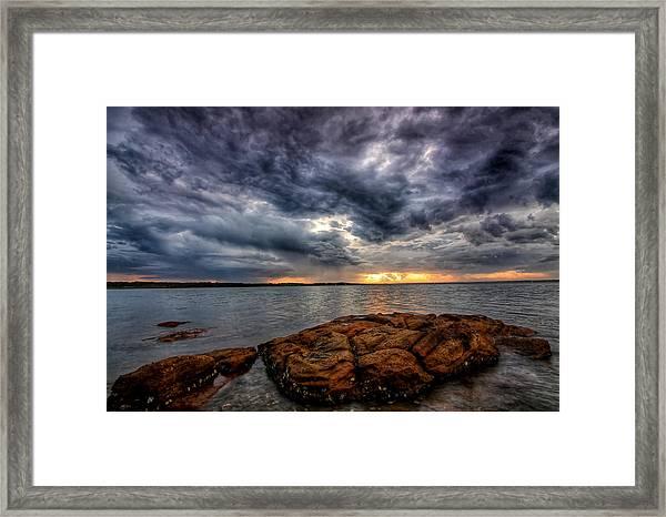 The Storm Cometh Framed Print