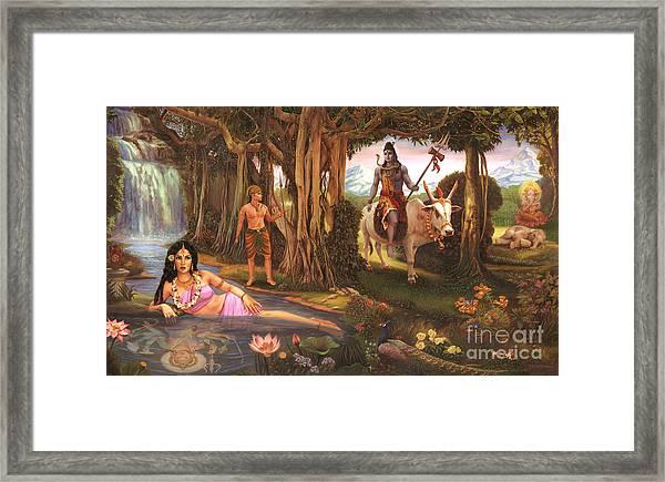 The Story Of Ganesha Framed Print