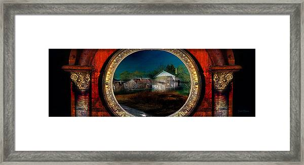 The Street On The River Framed Print