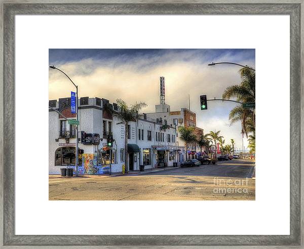 The Streets Of Pismo Beach Framed Print