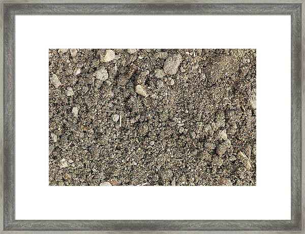 The Structure Of A Garden Soil Framed Print