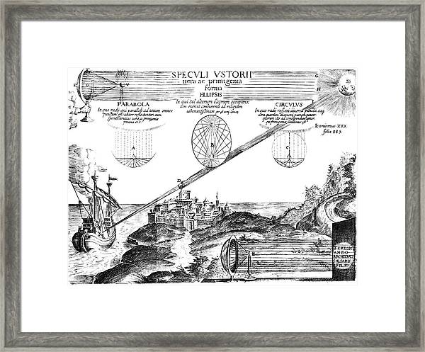 The Sun As A Weapon Framed Print by Royal Astronomical Society/science Photo Library