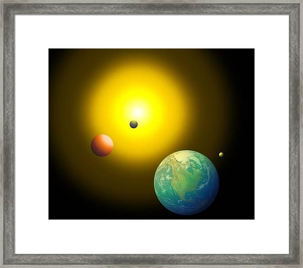 The Sun Framed Print