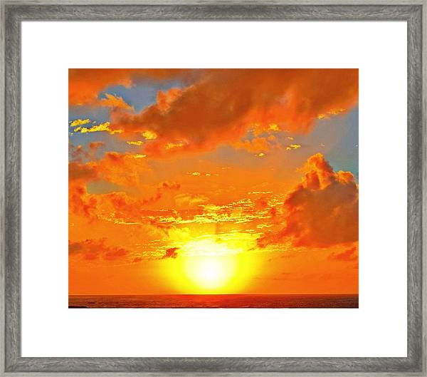 The Sun Sets Framed Print
