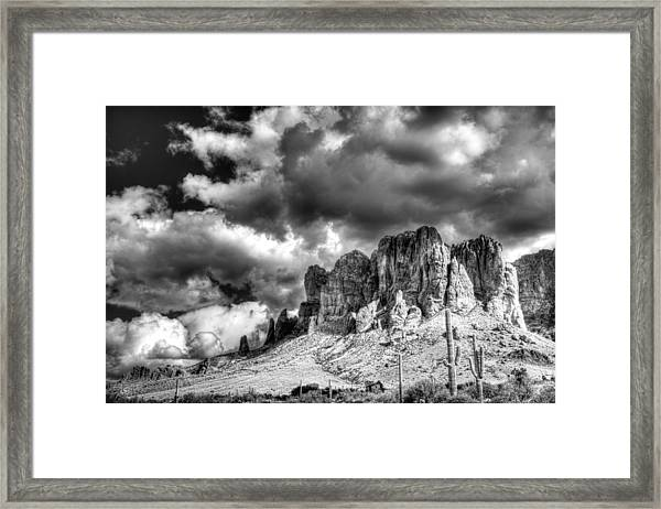 The Superstitions  Framed Print