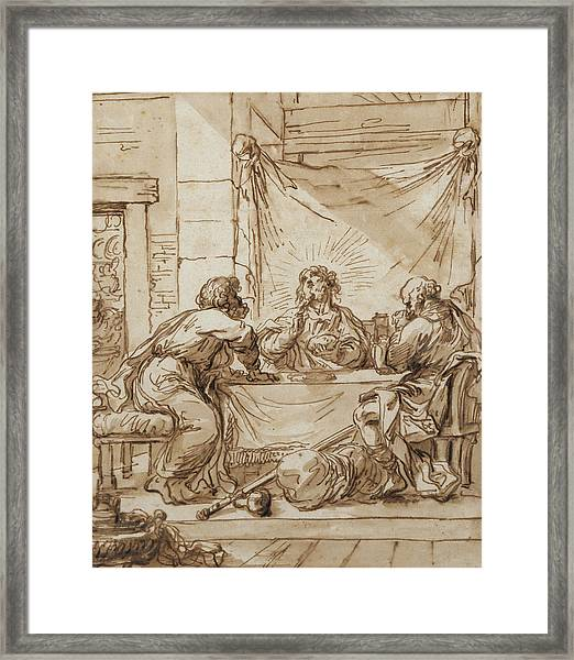 The Supper At Emmaus  Framed Print