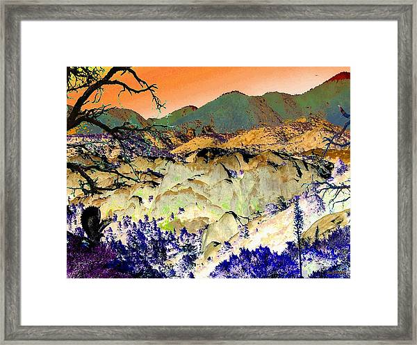 The Surreal Desert Framed Print