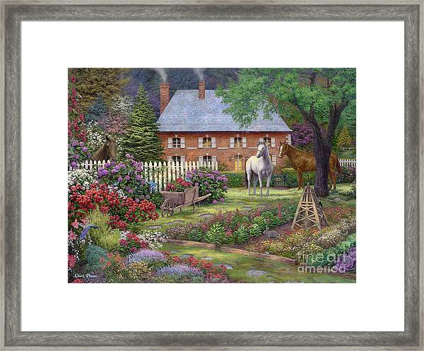 The Sweet Garden Framed Print by Chuck Pinson