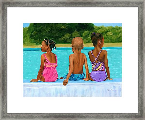 The Swim Lesson Framed Print
