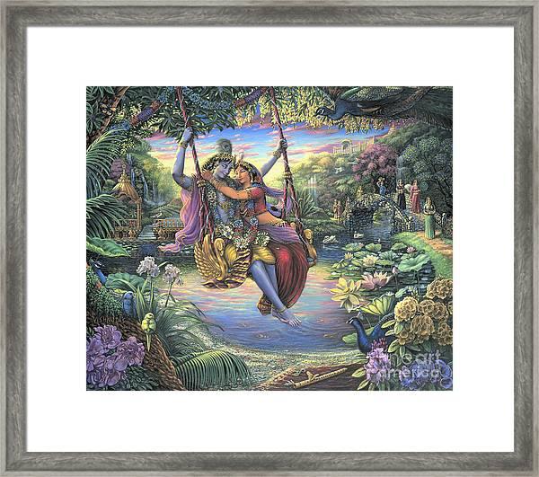 The Swing Pastime Framed Print