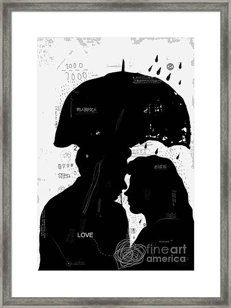 The Symbolic Image Of A Man And A Woman Framed Print by Dmitriip