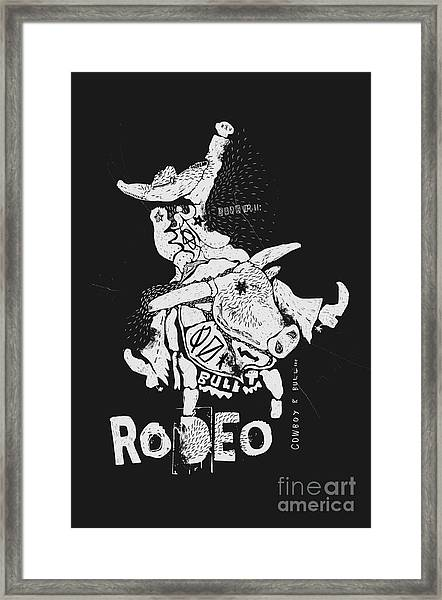 The Symbolic Image Of The Bull On Which Framed Print