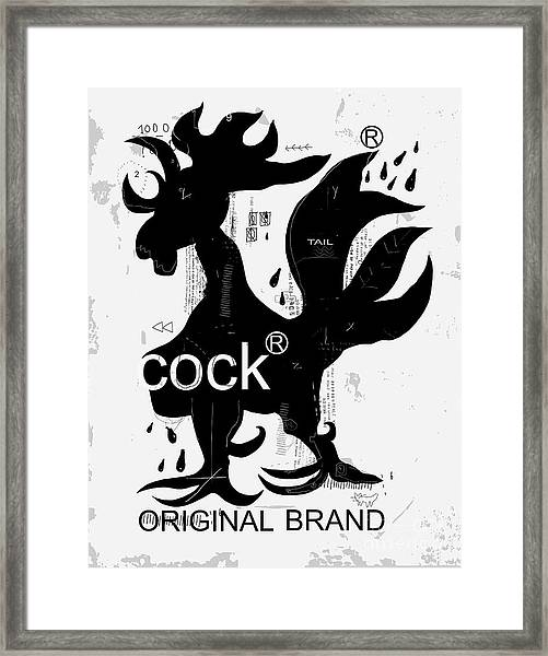 The Symbolic Image Of The Rooster, Who Framed Print by Dmitriip