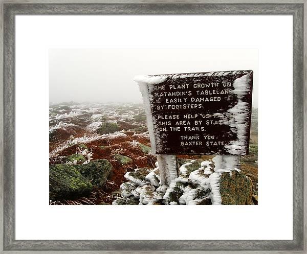 The Tablelands - Mt. Katahdin, Maine Framed Print