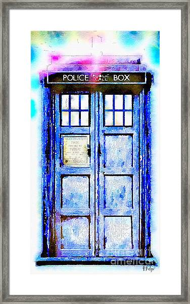The Tardis Framed Print
