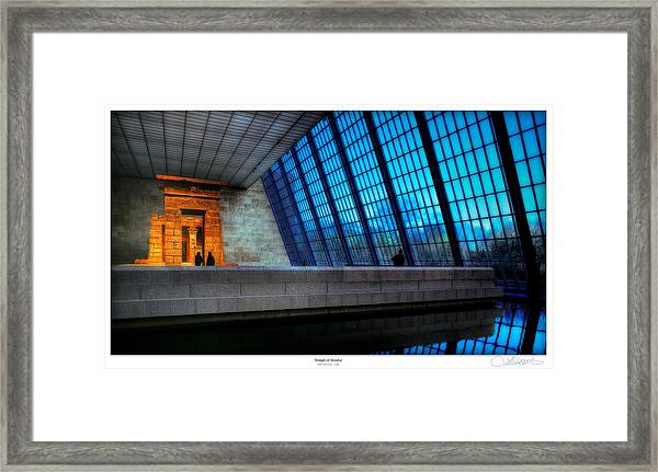 The Temple Of Dendur Framed Print by Lar Matre