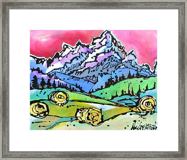 The Tetons From Walton Ranch Framed Print