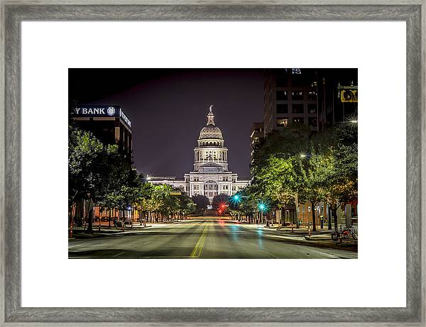 The Texas Capitol Building Framed Print
