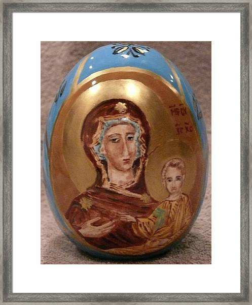 The Theotokos Framed Print
