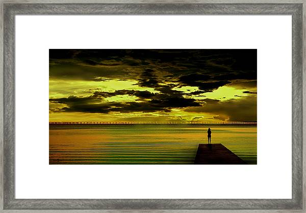 The Thinking Spot Framed Print