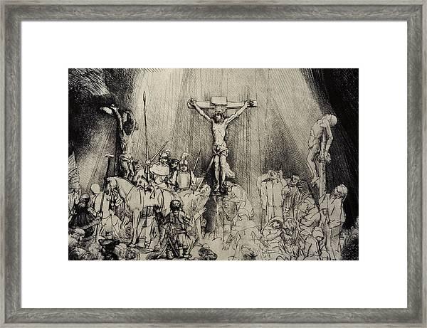 The Three Crosses Framed Print