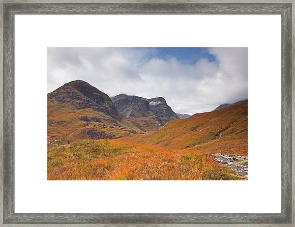 The Three Sisters In The Pass Of Framed Print
