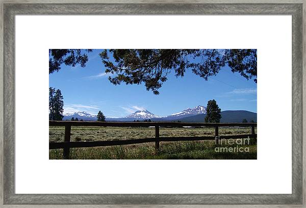 The Three Sisters Panorama Framed Print