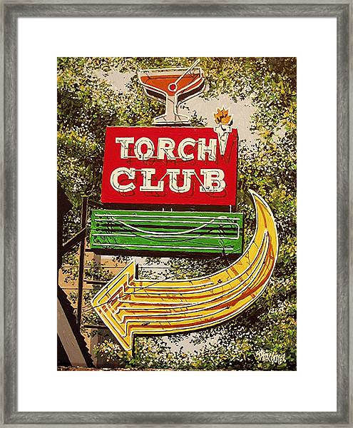 The Torch Club Framed Print by Paul Guyer