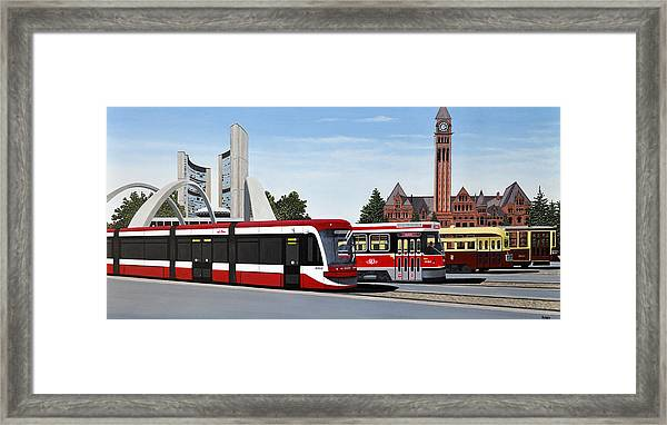 The Toronto Streetcar 100 Years Framed Print